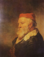 Govert Flinck Old man with a red cap