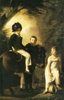 Henry Raeburn George Drummond, his sister Margaret and his foster brother