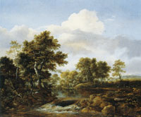 Jacob van Ruisdael Wooded Landscape with a Stream