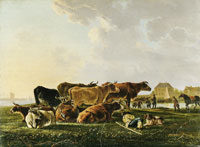 Jacob van Strij Landscape with Cattle