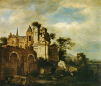 Jan van der Heyden Ideal Landscape with Romanesque Church