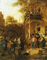 Attributed to Jan Steen Wedding scene