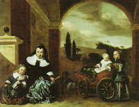 Jan Baptist Weenix Christina Lepper de Kempenaer and Her Children