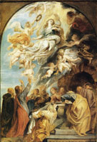 Peter Paul Rubens 'Modello' for the assumption of the Virgin