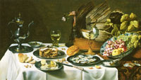 Pieter Claesz. Still Life with Turkey Pie