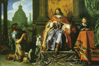 Pieter Lastman David giving the letter to Uriah