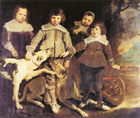 Pieter Soutman Group of Four Children