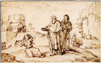 Pieter de With Paul and Silas in Philippi drive the devil out of a woman possessed of a spirit of divination