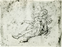 Rembrandt Study of Delilah Cutting off Samson's Hair