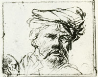 Rembrandt Head of a Bearded Man