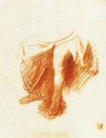 Rembrandt - Study of the Legs of a Seated Woman