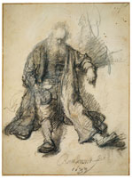 Rembrandt Study for Lot Drunk