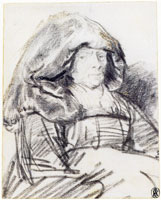 Rembrandt An Old Woman with a Large Headdress