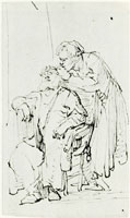 Rembrandt Tobias Curing the Old Tobit