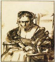 Rembrandt A Young Woman Seated in an Armchair