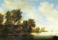 Salomon van Ruysdael River view