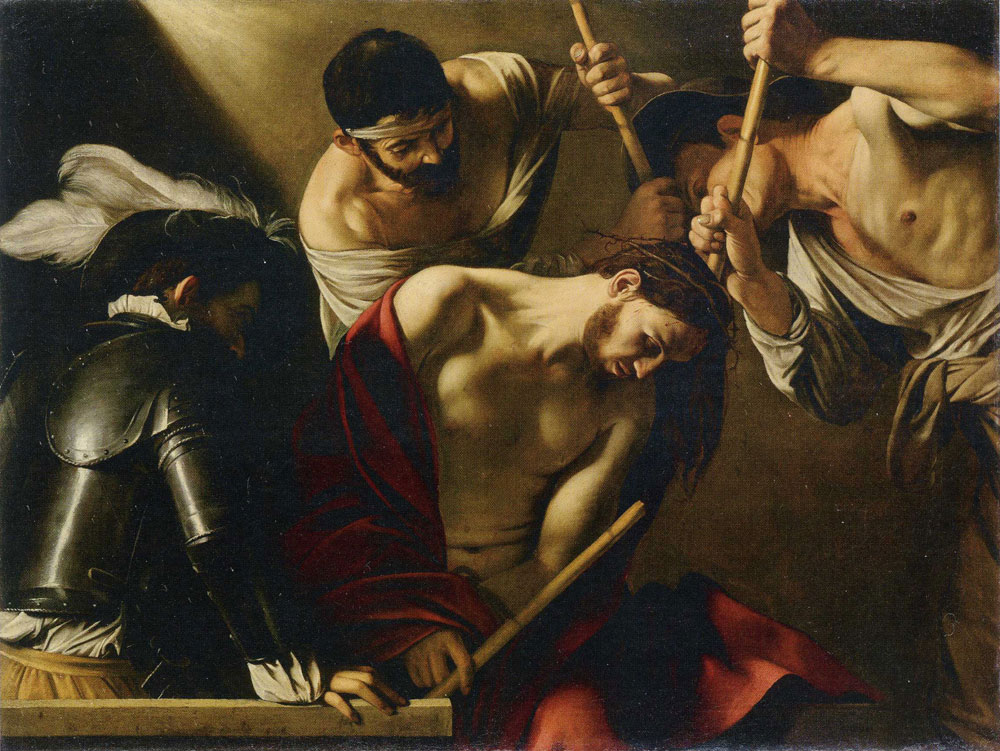 Caravaggio - Crowning with Thorns