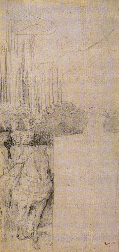 Edgar Degas after Benozzo Gozzoli - Three Pages