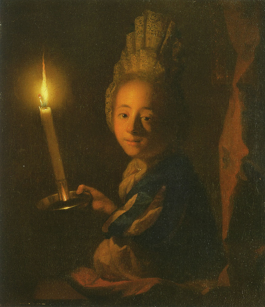 Godfried Schalcken - Girl with a candle