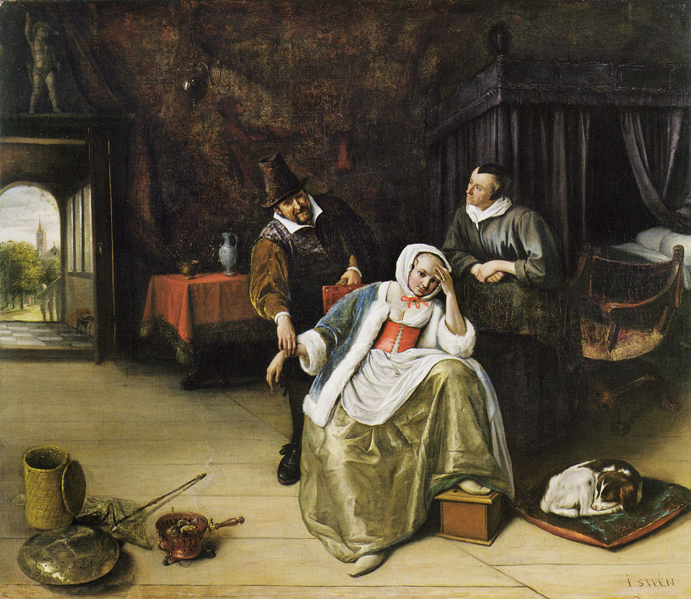 Jan Steen - The Lovesick Maiden