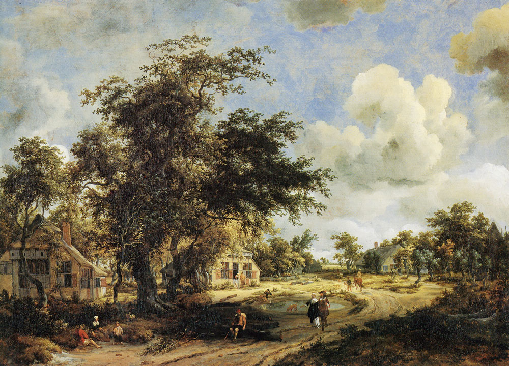 Meindert Hobbema - A View on a High Road