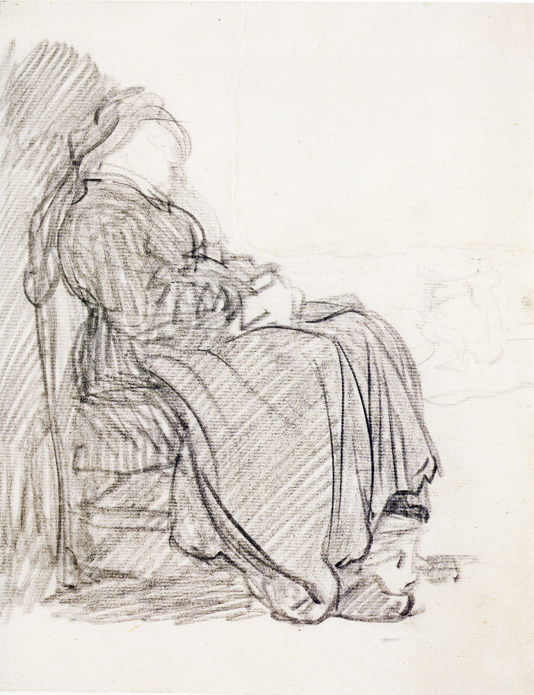 Rembrandt - Study of a Woman Asleep