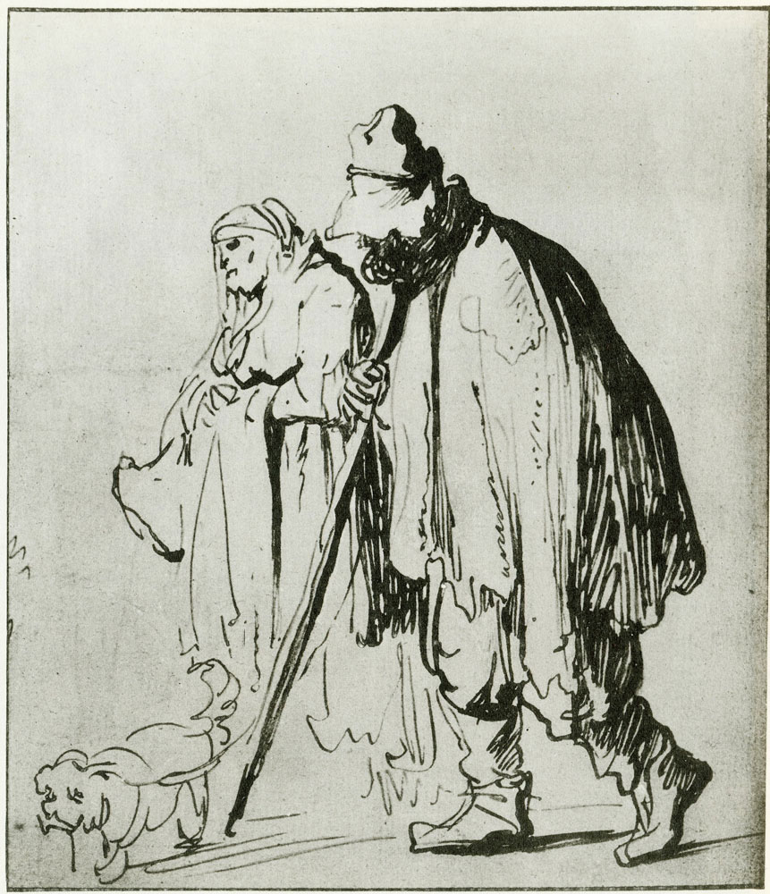 Rembrandt - Beggar Couple with a Dog