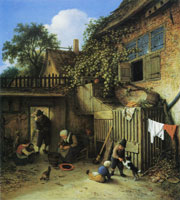 Adriaen van Ostade The Cottage Dooryard