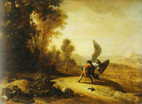 Bartholomeus Breenbergh Jacob Wrestling with the Angel