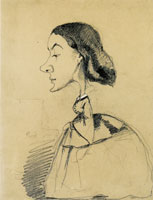 Claude Monet Caricature of a Young Woman at the Piano