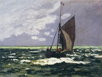 Claude Monet Seascape: Storm