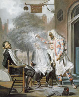 Cornelis Troost Harlequin, Magician and Barber: the Deceived Rivals