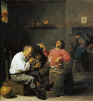 David Teniers the Younger Smokers in an interior