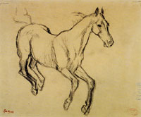 Edgar Degas Horse Galloping