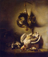 Ferdinand Bol Still life with poultry