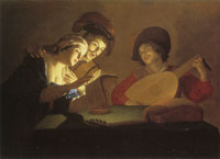 Gerard van Honthorst Musical Group by Candlelight