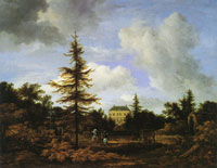 Jacob van Ruisdael Country House in a Park