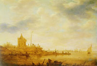 Jan van Goyen River View with Sentry Post