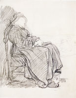 Rembrandt Study of a Woman Asleep