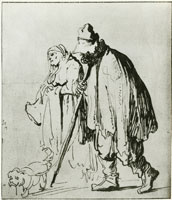 Rembrandt Beggar Couple with a Dog