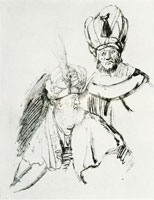 Rembrandt Two Busts of Orientals in Turbans