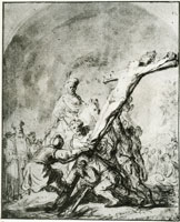 Rembrandt The Raising of the Cross