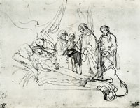 Rembrandt The Raising of the Daughter of Jairus