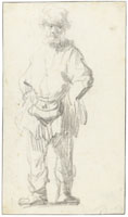 Rembrandt Standing Beggar with a Leather Bag