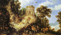 Roelandt Savery Landscape with the Flight into Egypt