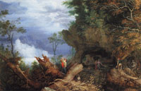 Roelandt Savery Mountainous Landscape with an Entrance to a Mine