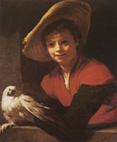 Willem Drost Boy with a Pidgeon