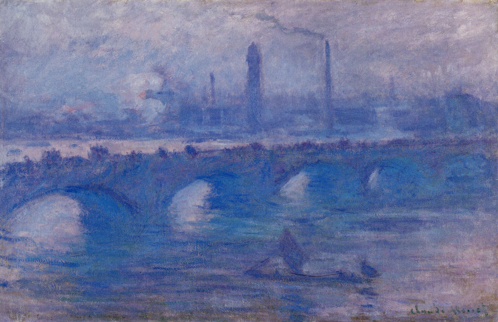 Claude Monet - Waterloo Bridge, Morning Fog