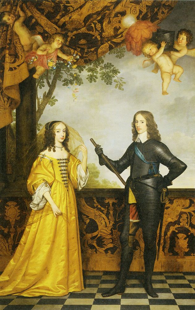 Gerard van Honthorst - Portrait of Willem II, Prince of Orange, and his wife Mary Stuart