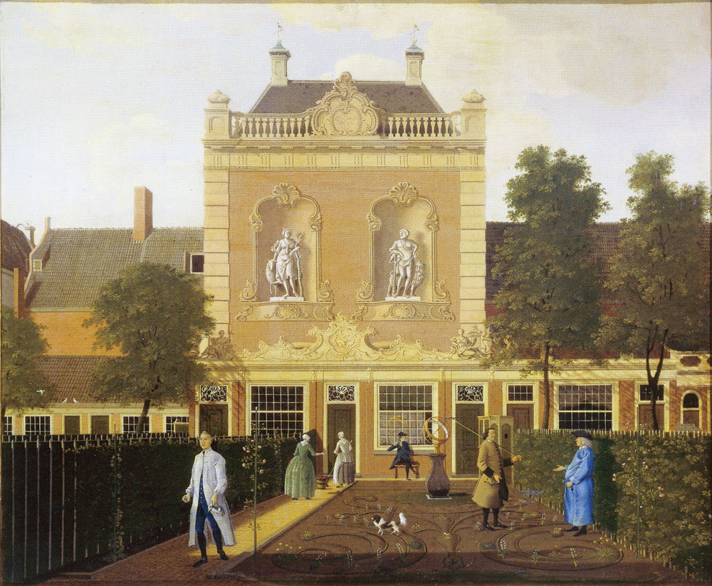 Hendrik Keun - The garden and coach house of 524 Keizersgracht Amsterdam